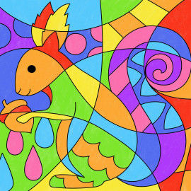 Pop-Art – Mathe: Eichhörnchen