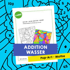 Pop-Art – Mathe Addition: Wasser