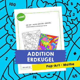Pop-Art – Mathe Addition: Erdkugel
