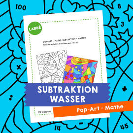 Homeschooling - Pop-Art – Mathe Subtraktion: Wasser