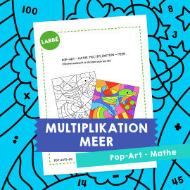 Homeschooling - Pop-Art – Mathe Multiplikation: Meer PDF