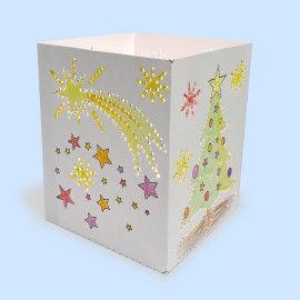 Sterne und Baumkugeln: Weihnachts-Leuchten - Bastelvorlagen für Kinder