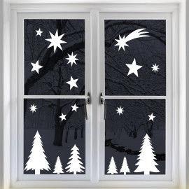 Ein stimmungsvolles Weihnachts-Fensterbild