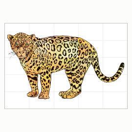 Ein Jaguar in Lebensgröße - eine super Gruppenarbeit