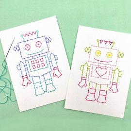 Stickbilder - Roboter