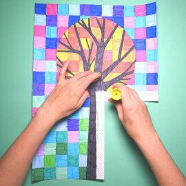 Raster-Baum zusammenkleben