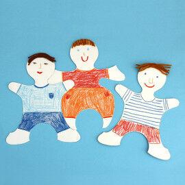 Puzzle-Kids - Puzzlefiguren zum Gestalten von Selbstportraits für Gruppenbilder uvm.