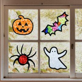 Sun Catcher Halloween im Fenster