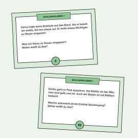 Aufgabenkarten zum Üben von Schlussfolgerungen