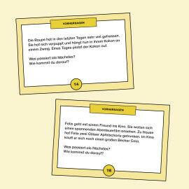 Aufgabenkarten zum Folgern und Voraussagen von Geschehnissen