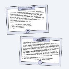 Aufgabenkarten zum Vergleichen und Gegenüberstellen