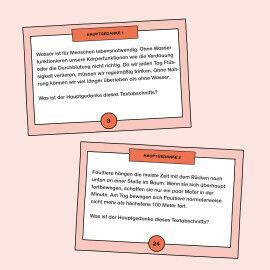 Aufgabenkarten zum Identifizieren des Hauptgedankens von kurzen Texten