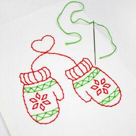 Winterliche Stickbilder für Kinder