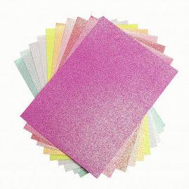 Block mit 10 Bögen Glitterpapier