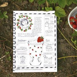 Jahrbuch mit Ideen & Aktivitäten für das ganze Jahr - z:B: einem Rezept für Erdbeer-Eis