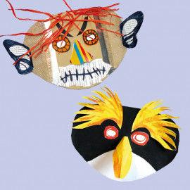 Vielseitige Blanko-Masken für Fasching & Karneval