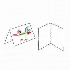 Klappkarten aus weißem Karton zum Gestalten von eigenen Karten