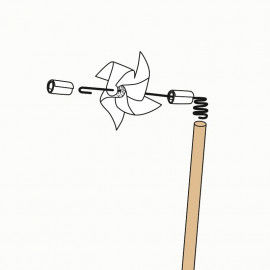 Stock & Draht zum Basteln von Windrädern