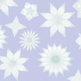 Weiße Fenstersterne aus Transparentpapier
