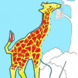 """Stickkarten mit """"versteckten"""" afrikanischen Tiermotiven"""