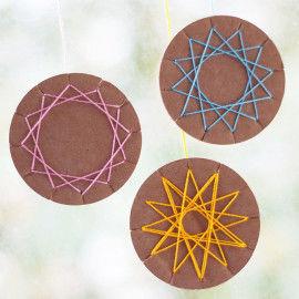 Wickeltaler zum Wickeln von sternähnlichen Mustern