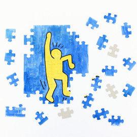 Malpuzzle mit Keith Haring Figur