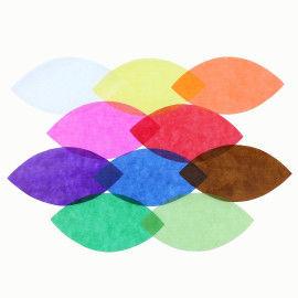 Transparentpapier in 10 Farben sortiert