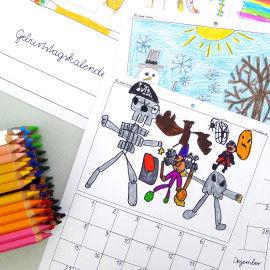 Geburtstagskalender zum Selbergestalten