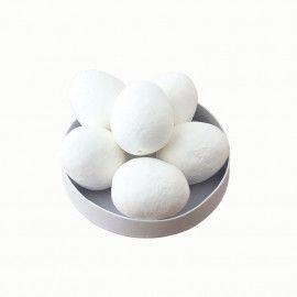 Weiße Watte-Eier zum Bemalen