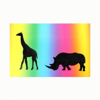 Regenbogen-Fotokarton zum Basteln