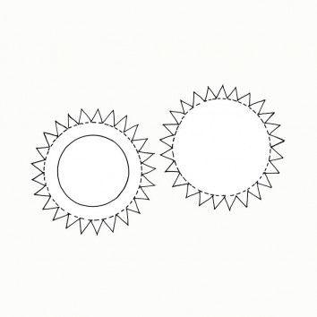 Laternenboden und Laternendeckel zum Basteln von runden Laternen