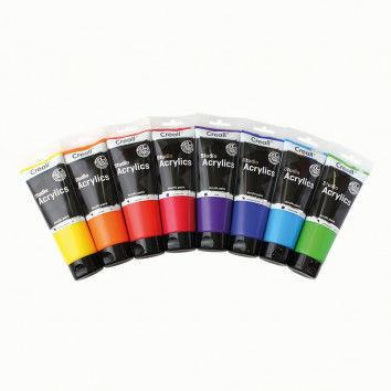 Acrylfarbe auf Wasserbasis in brillanten Farben