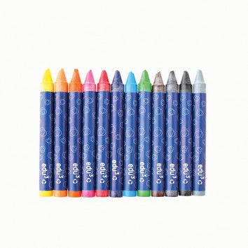 Wachsmalstifte in 12 Farben für Kinder