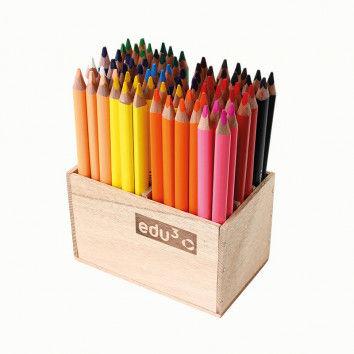 Jumbo Tri Stiftebox mit 72 Buntstiften
