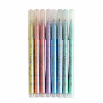 Glitter Fasermaler-Set mit 8 Pastellfarben