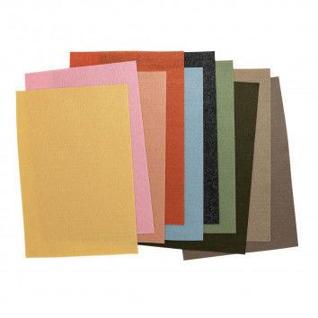Filzplatten Sortiment pastell Erdfarben