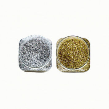Glitter in silber & gold