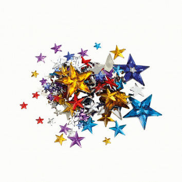 Schmucksteine Sterne, ca. 350 Stück, farbsortiert