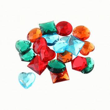Schmucksteine, große Diamanten, 20 Stück, farbsortiert