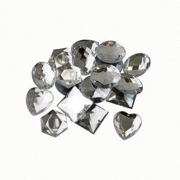 Schmucksteine, große Diamanten, 20 Stück, weiß