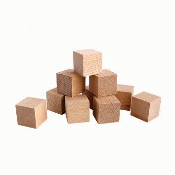 Holzwürfel, groß, 10 Stück