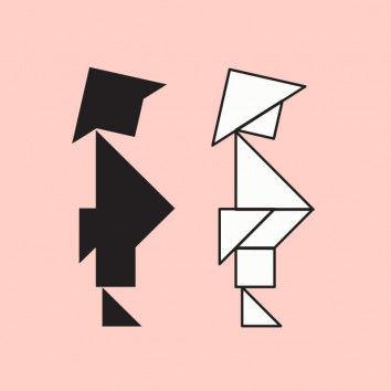 Einfache Tangram-Figuren zum Nachlegen