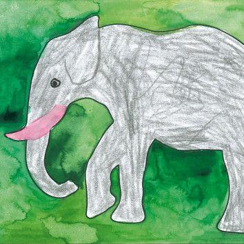 Silhouetten-Vorlagen von Elefanten und anderen wilden Tieren