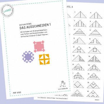 Beispielseiten aus dem PDF Das Ausschneiden 1 mit Vorlagen nach Fröbel