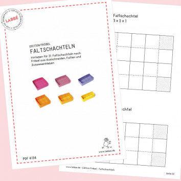 Beispielseiten aus dem PDF Edition Fröbel - Faltschachteln