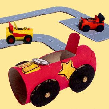 Papprollen-Autos basteln