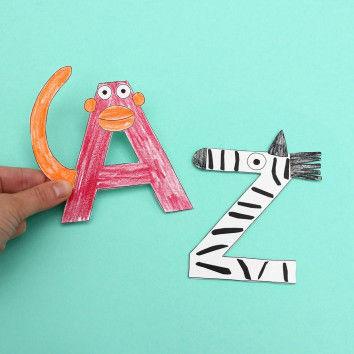Tier-Alphabet von A wie Affe bis Z wie Zebra