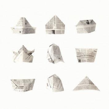 Hüte aus Zeitungspapier - Übersicht