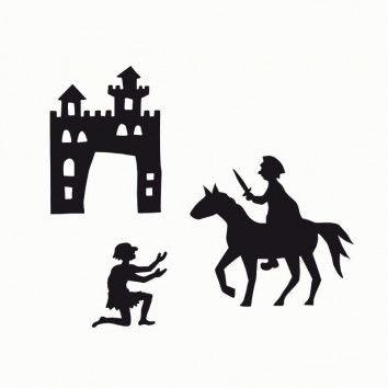 Schattenspiel Scherenschnitt-Vorlagen Sankt Martin