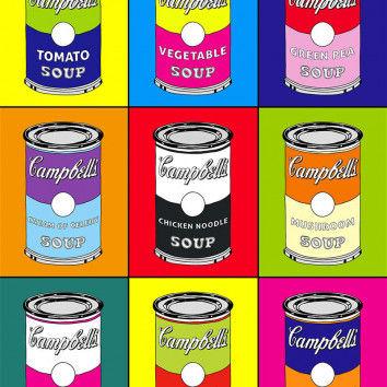 Suppendosen Pop-Art Farbstudie nach Andy Warhol